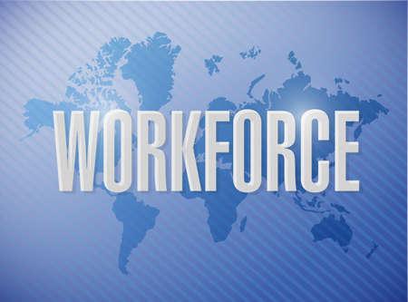 urban planning: workforce international sign concept illustration design over a blue background