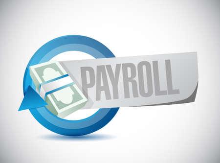payroll cyclus teken concept illustratie ontwerp op een witte