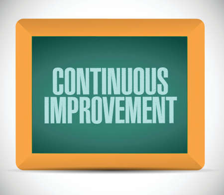 continuous improvement board sign concept illustration design over white background