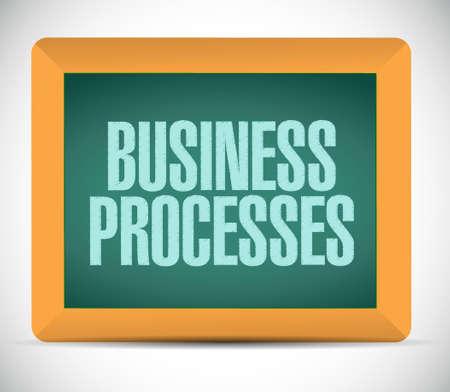 structured: business processes board sign concept illustration design over white