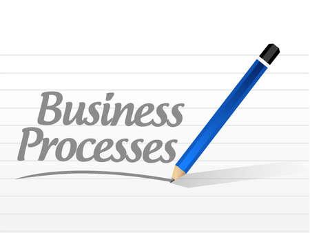 business processes message sign concept illustration design over white