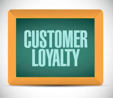 keywords bubble: customer loyalty board sign concept illustration design over white