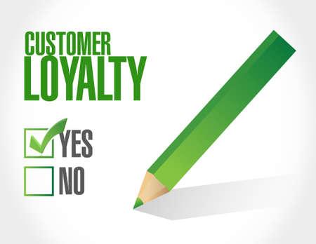keywords bubble: customer loyalty selection sign concept illustration design over white Illustration