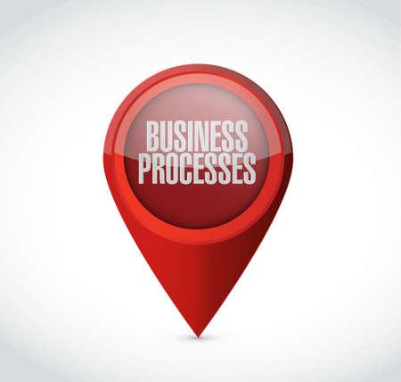 reciprocity: business processes pointer sign concept illustration design over white Illustration