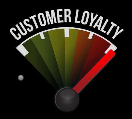 keywords bubble: customer loyalty level sign concept illustration design over black