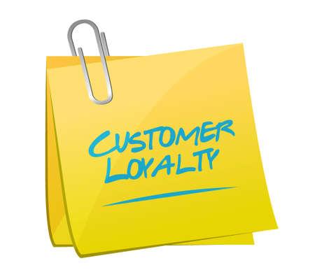 keywords bubble: customer loyalty post sign concept illustration design over white
