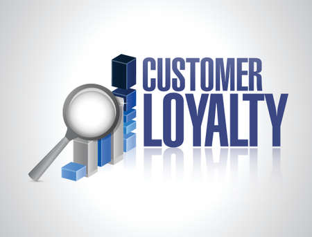keywords bubble: customer loyalty business review sign concept illustration design over white