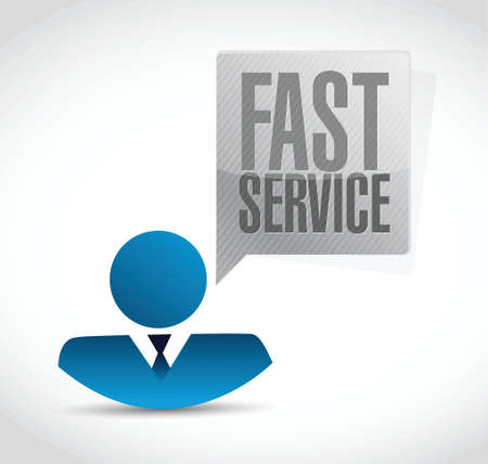 commercial sign: fast service avatar sign concept illustration design over white Illustration