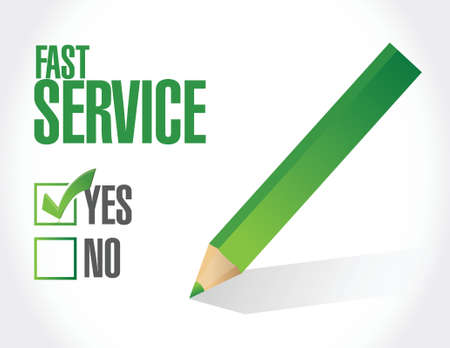 color selection: fast service sign concept illustration design over white