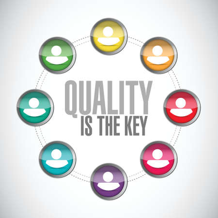quality is the key community sign concept illustration design over white Vector
