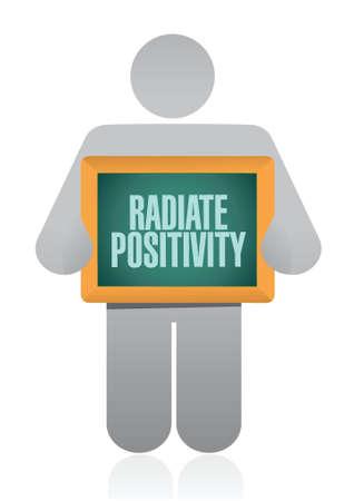 encouragements: Radiate Positivity icon sign concept illustration design over white Illustration
