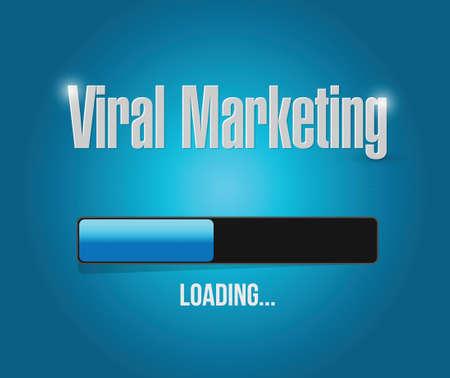 time sharing: viral marketing loading bar sign concept illustration design over blue Illustration