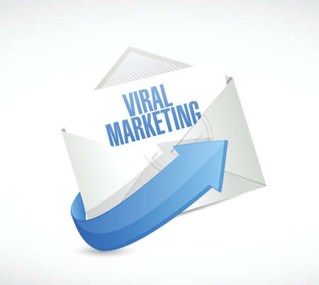 successful campaign: viral marketing email sign concept illustration design over white