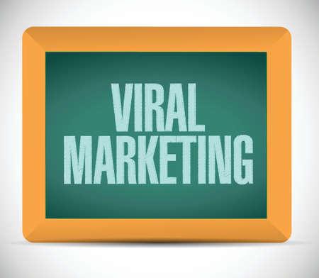 viral marketing board sign concept illustration design over white