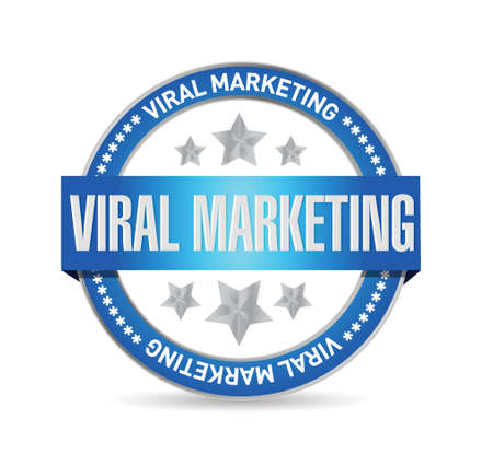 viral marketing seal sign concept illustration design over white Illusztráció