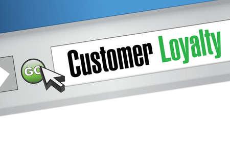 satisfied customer: customer loyalty browser sign concept illustration design