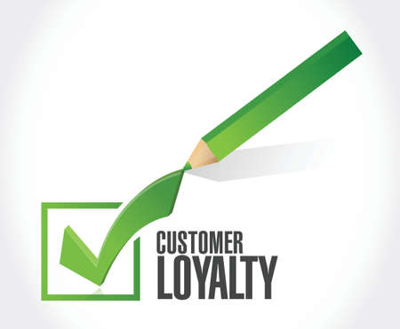 customer loyalty check mark sign concept illustration design over white