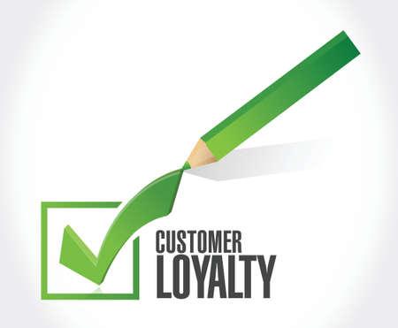 loyalty: customer loyalty check mark sign concept illustration design over white