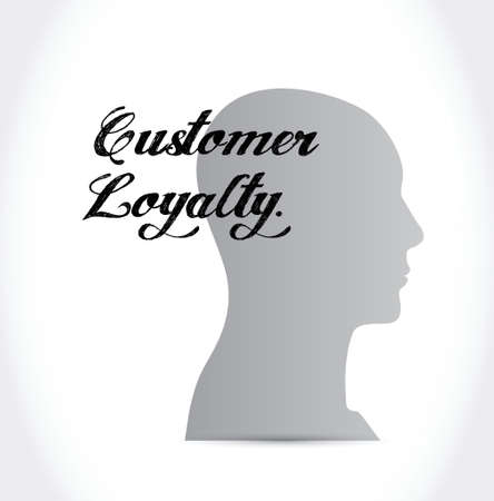 customer loyalty mind sign concept illustration design over white Vector