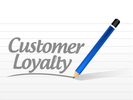 talk show: customer loyalty mesage sign concept illustration design over white