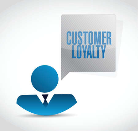 keywords bubble: customer loyalty avatar sign concept illustration design over white