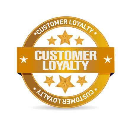 customer loyalty seal sign concept illustration design over white