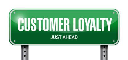 customer loyalty post sign concept illustration design over white