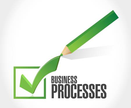 color selection: business processes check sign concept illustration design over white