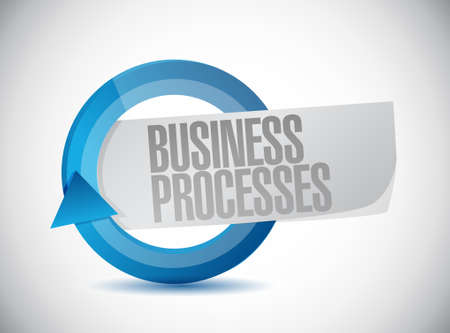 business processes cycle sign concept illustration design over white Ilustrace