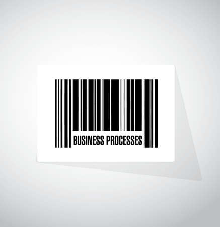 structured: business processes barcode sign concept illustration design over white