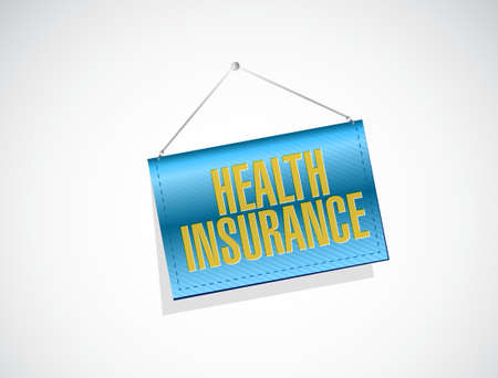 Health Insurance banner sign concept illustration design graphic