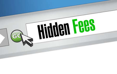 break in: hidden fees web browser sign concept illustration design graphic Illustration