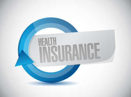insurance claim: Health Insurance cycle sign concept illustration design graphic Illustration