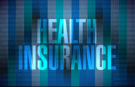 endorsed: Health Insurance binary sign concept illustration design graphic Illustration
