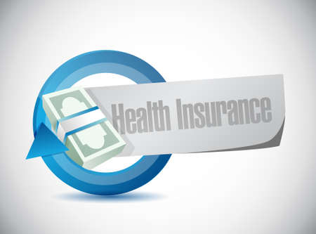 insure: Health Insurance price cycle sign concept illustration design graphic