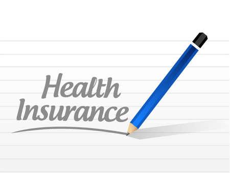insure: Health Insurance message sign concept illustration design graphic