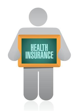 endorsed: Health Insurance post board sign concept illustration design graphic Illustration
