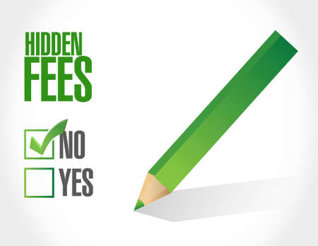 break in: no hidden fees check sign concept illustration design graphic