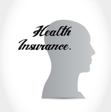 insurance claim: Health Insurance mind sign concept illustration design graphic