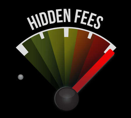 extra money: high hidden fees sign concept illustration design graphic
