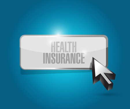 Health Insurance button sign concept illustration design graphic