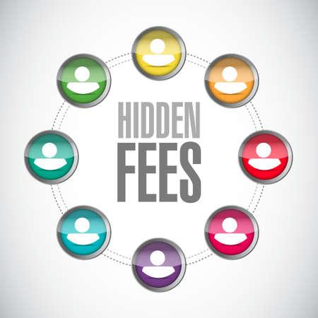 hidden fees people community sign concept illustration design graphic  イラスト・ベクター素材