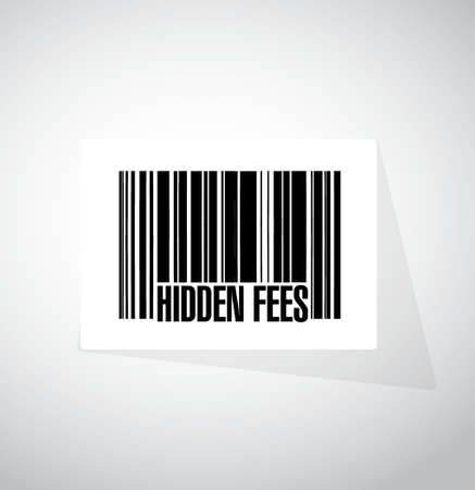break in: hidden fees barcode sign concept illustration design graphic