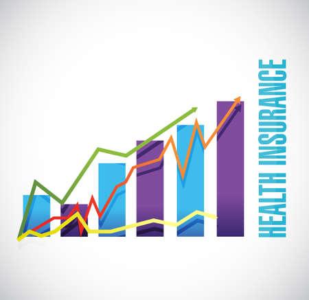 Health Insurance business graph sign concept illustration design graphic