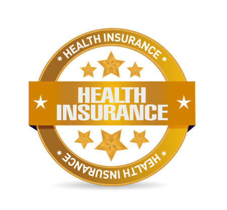claim: Health Insurance seal sign concept illustration design graphic