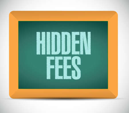 break in: hidden fees board sign concept illustration design graphic