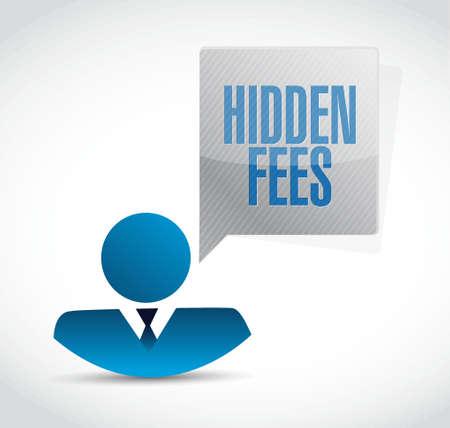 hidden fees people sign concept illustration design graphic Illustration