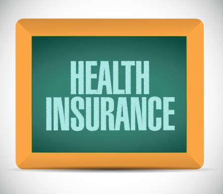 endorsed: Health Insurance board sign concept illustration design graphic