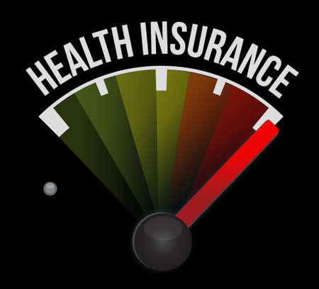 endorsed: Health Insurance speedometer sign concept illustration design graphic