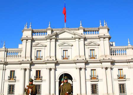 palacio: SANTIAGO, CHILE - JUNE 15: La Moneda Palace Downtown Santiago de Chile.